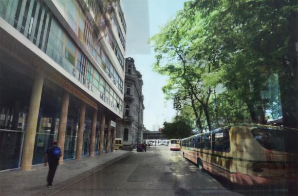 Renata Lucas, Terminal Rodoviario Mariano Procopiol Museu de Arte do Rio – MAR Museu do Homem Diagonal: Departmento das colunas, 2014