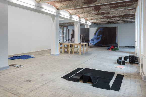 <p>Paul Elliman 'As you said' Installation view at KW Institute for Contemporary Art, 2017, Photo: Frank Sperling</p>