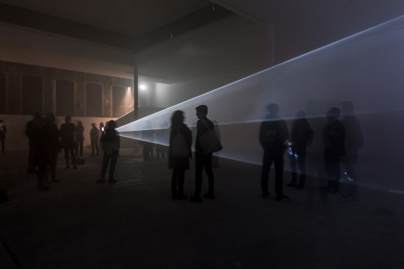 Anthony McCall, Line Describing a Cone, 1973, Courtesy Julia Stoschek Foundation e. V. and Sprüth Magers, Installation view at KW Institute for Contemporary Art, 2017, Photo: Frank Sperling