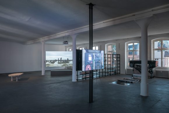 Nicholas Mangan, <i>Limits to Growth</i>, 2016/2017, Installation view KW Institute for Contemporary Art, Berlin 2017, Photo: Frank Sperling