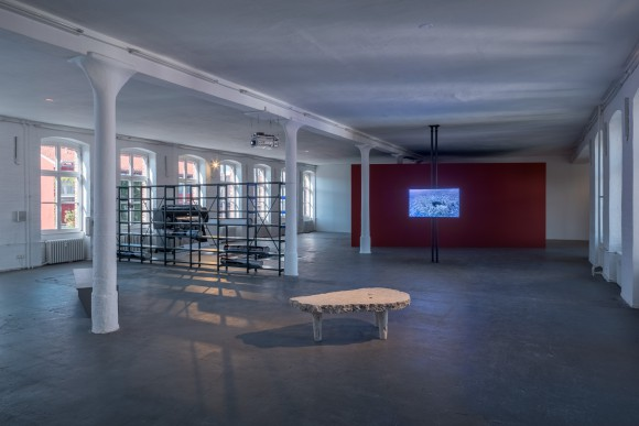 <p>Nicholas Mangan, Installation view <em>Limits to Growth,</em> KW Institute for Contemporary Art, 2017, Photo: Frank Sperling</p>