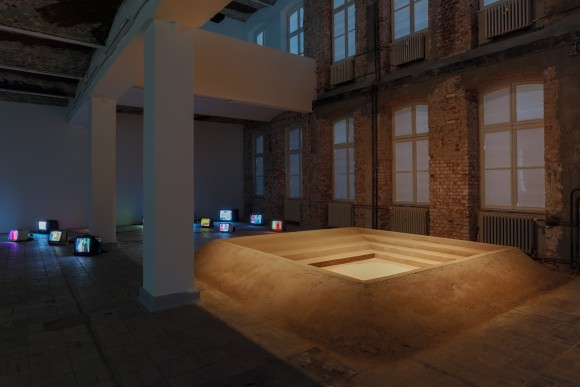 <p>f.l.t.r.: Hiwa K, <em>My Father's Color Period</em>, 2012; <em>What the Barbarians did not do, did the </em><em>Barberini</em>, 2012/2017, Installation view KW Institute for Contemporary Art, 2017, Photo: Frank Sperling</p>