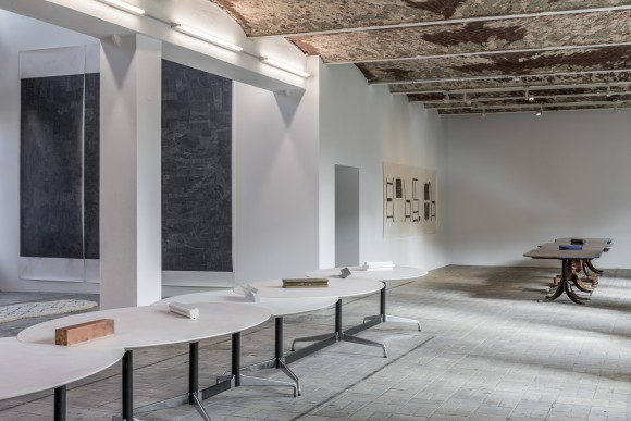 <p>Lucy Skaer, Installation view <em>Available</em> Fonts at KW Institute for Contemporary Art, Photo: Frank Sperling</p>