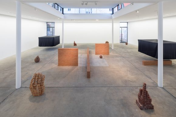 Judith Hopf, installation view <i>Stepping Stairs</i> at KW Institute for Contemporary Art, Photo: Frank Sperling