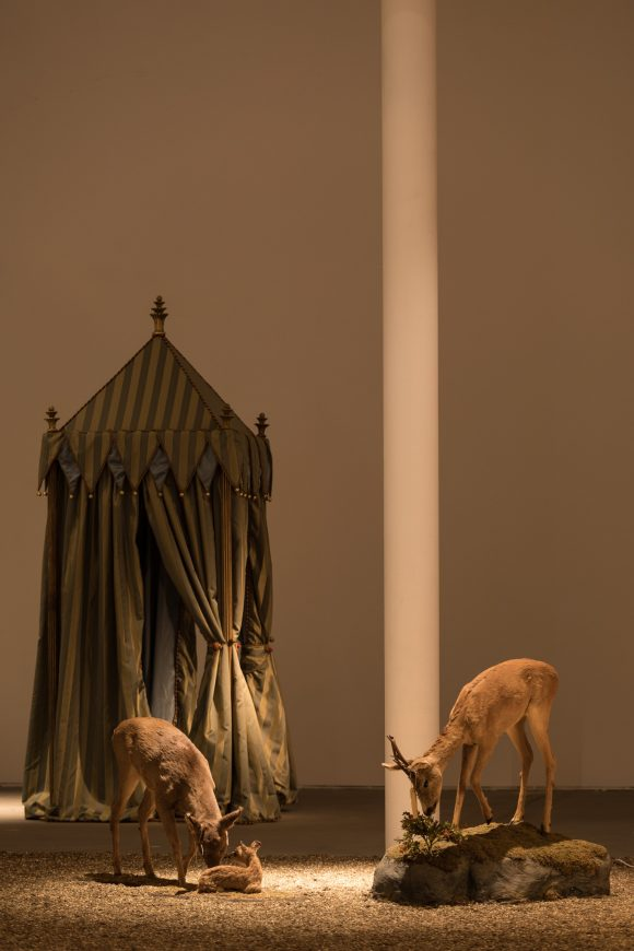 <p>AA Bronson in collaboration with Mark Jan Krayenhoff van de Leur and Adrian Hermanides, with an audio component titled FIELD by Ebe Oke, <em>Folly </em>(Detail /detail), 2015/16, mixed media installation, installation view KW Institute for Contemporary Art, photo: Frank Sperling, Courtesy the artist and Esther Schipper, Berlin</p>
