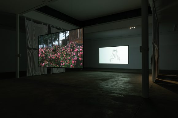 "Evelyn Taocheng Wang,  installation view of the exhibition ""What is he afraid of?"", 2018, KW Institute for Contemporary Art, Courtesy the artist and Galerie Fons Welters, photo: Frank Sperling"
