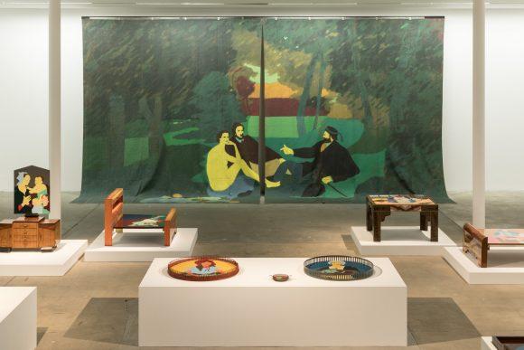Beatriz González, Installationsansicht in der Ausstellung <i>Retrospective 1965–2017</i>, KW Institute for Contemporary Art, Berlin 2018, Foto: Frank Sperling