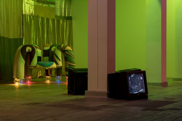 Tamara Henderson, installation view of the exhibition <i>Womb Life</i>, KW Institute for Contemporary Art, Berlin 2018, Courtesy the artist and Rodeo London/Piräus, Photo: Frank Sperling