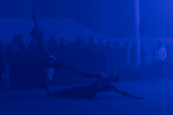 Jimmy Robert, <i>Joie noire</i>, performance with Courtney Henry at KW Institute for Contemporary Art, 2019, Berlin, Courtesy the artist, photo: Frank Sperling