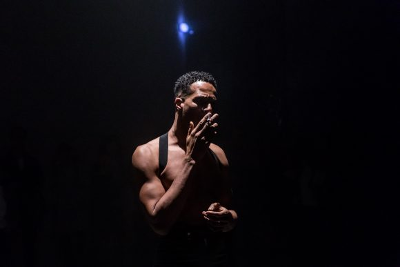 Jimmy Robert, Joie noire, performance with Courtney Henry at KW Institute for Contemporary Art, 2019, Berlin, Courtesy the artist, photo: Frank Sperling