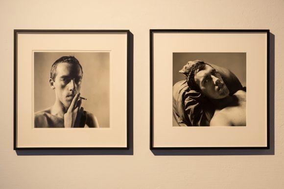 Left: Peter Hujar, <i>David Wojnarowicz Smoking</i>, 1981/2018; right: Peter Hujar, <i>David Wojnarowicz</i>, 1981/2016, Courtesy the Estate of David Wojnarowicz and P·P·O·W Gallery, New York; installation view of the exhibition <i>David Wojnarwicz Photography & Film 1978–1992</i>, KW Institute for Contemporary Art, Berlin, 2019, photo: Frank Sperling