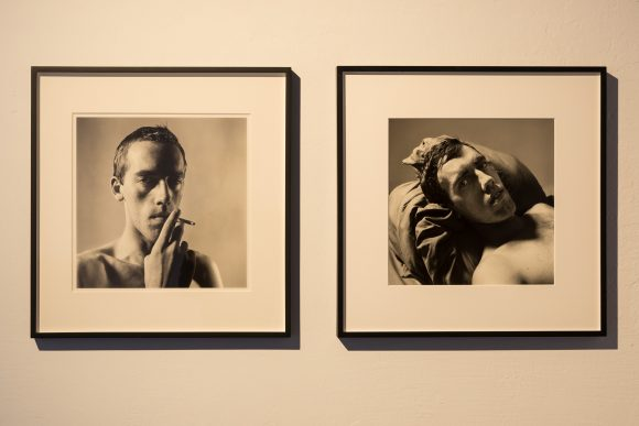 Left: Peter Hujar, David Wojnarowicz Smoking, 1981/2018; right: Peter Hujar, David Wojnarowicz, 1981/2016, Courtesy the Estate of David Wojnarowicz and P·P·O·W Gallery, New York; installation view of the exhibition David Wojnarowicz Photography & Film 1978–1992, KW Institute for Contemporary Art, Berlin, 2019, photo: Frank Sperling