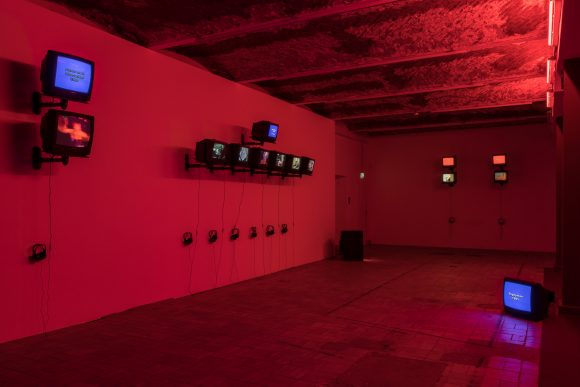 Installation view of the exhibition <i>Reza Abdoh</i>, KW Institute for Contemporary Art, Berlin, 2019, Photo: Frank Sperling