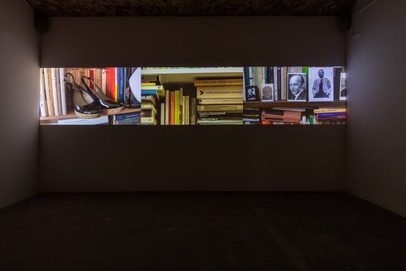 Anna Daučíková, <i>On Allomorphing</i>, 2017, 3-channel video projection, video still, installation view of the exhibition, KW Institute for Contemporary Art, Berlin, 2019, photo: Frank Sperling