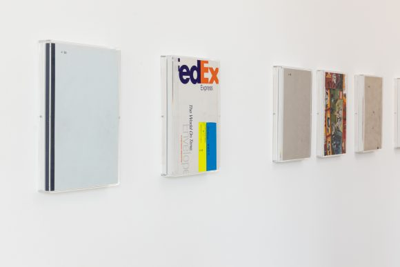 Heike-Karin Föll, Artist books (unique), installation view (detail) <i>speed</i> at KW Institute for Contemporary Art, Berlin, 2019, Photo: Frank Sperling