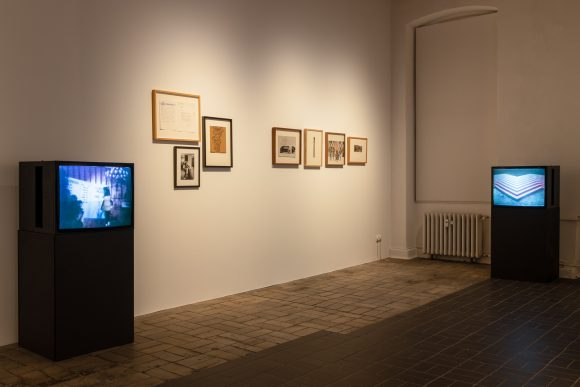 Installation view <i>Image Bank</i> at KW Institute for Contemporary Art, Berlin, 2019, Courtesy the Morris/Trasov Archive, Morris and Helen Art Gallery, University of British Columbia (CA), Photo: Frank Sperling