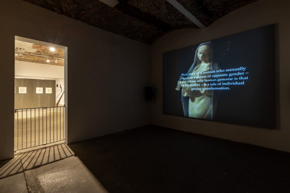 Terre Thaemlitz, <i>Soulnessless</i>, 2012, Courtesy Comatonse Recordings. Installationsansicht <i>The Making of Husbands: Christina Ramberg in Dialogue</i> in den KW Institute for Contemporary Art, Berlin, 2019, Foto: Frank Sperling