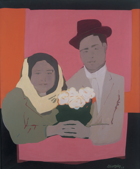 <p>Beatriz González, <em>Los Suicidas del Sisga No 2</em>, 1965, Courtesy the artist</p> <p>and Óscar Monsalve, Collection Museo La Tertulia, Cali</p>