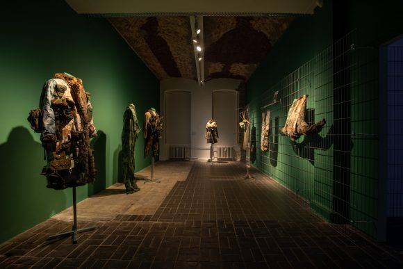 <p>Jasmina Metwaly, <em>Untitled</em>, 2019–2020, installation view of the exhibition <em>Mophradat's Consortium Commissions: Jasmina Metwaly & Yazan Khalili</em> at KW Institute for Contemporary Art, Berlin 2020, Courtesy the artist and Mophradat, Photo: Frank Sperling</p>