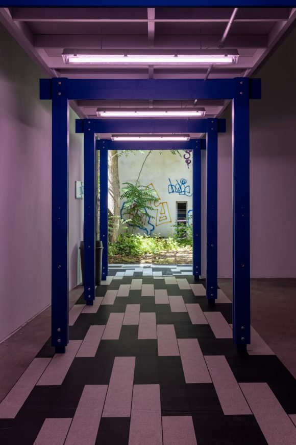 <p>Michael Stevenson, <em>Serene Velocity in Practice: MC510/CS183</em>, 2017/21. Installation view of the exhibition Michael Stevenson Disproof Does Not Equal Disbelief at KW Institute for Contemporary Art, Berlin 2021; Courtesy the artist, Michael Lett Gallery, Auckland, and Fine Arts, Sydney; Photo: Frank Sperling</p> <p></p>