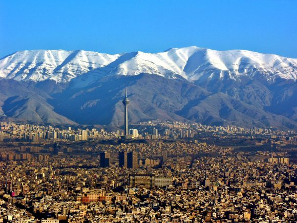 <p>View of the city Tehran</p>