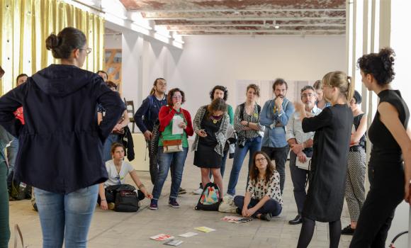 <p>Guided tour within the Fondazione Fitzcarraldo study tour 2018, photo:Elena Janniello</p>