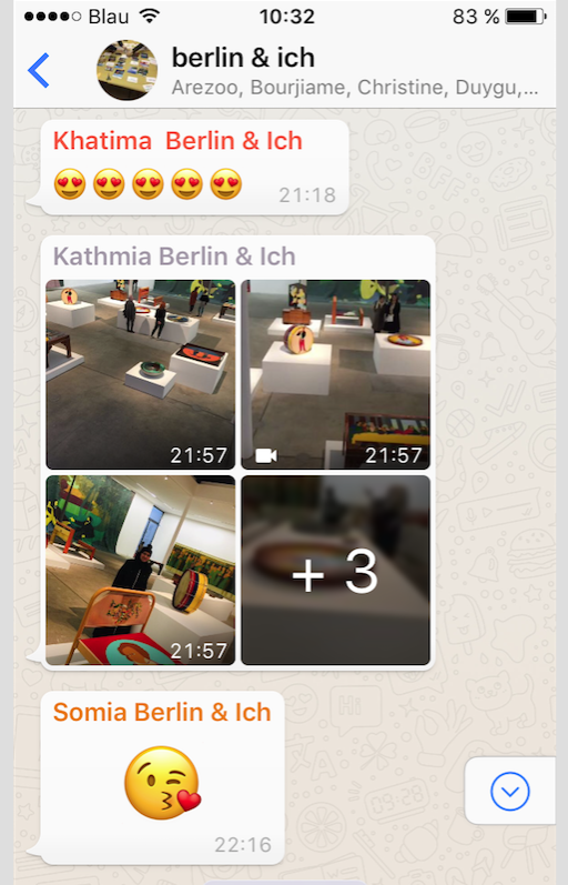 <p>Screenshot from WhatsApp chat <em>berlin&ich</em>, 2018</p>