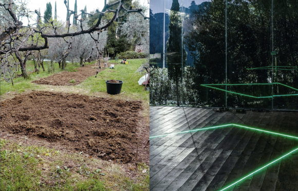 <p>Courtesy atelier le balto (left), Christian Naujoks, <i>Moon Nodes #1</i> (Sick Earth Green), 2019, photo: OKNOstudio (right) </p>