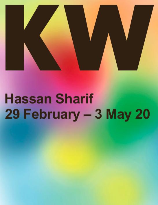 """<p><a href=""""https://www.kw-berlin.de/files/KW_2020_Hassan_Sharif_EN.pdf"""">Exhibition leaflet</a>: Hassan Sharif</p>"""
