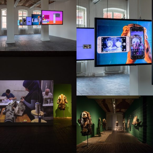 Installation views of the exhibtion Mophradat's Consortium Commissions: Jasmina Metwaly & Yazan Khalili at KW Institute for Contemporary Art, 2020; Courtesy the artists and Mophradat; Photos: Frank Sperling