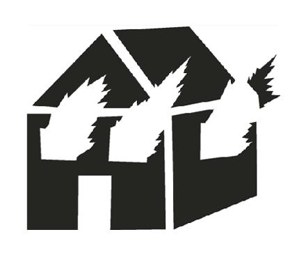 <p><em>Untitled (Burning House Stencil),</em>1981/2019, Courtesy the Estate of David Wojnarowicz und P·P·O·W, New York</p>
