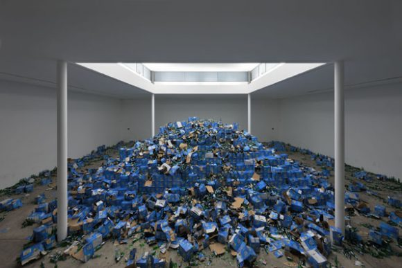 <p>Cyprien Gaillard, <em>The Recovery of Discovery</em>, 2011; Installationsansicht der Ausstellung <em>Cyprien Gaillard. The Recovery of Discovery</em> in den KW Institute for Contemporary Art, Berlin 2011; Courtesy der Künstler; Foto: Josephine Walter</p>