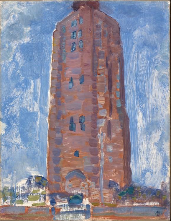 <p>Piet Mondrian, <em>Vuurtoren bij Westkapelle</em>, 1909–10, Courtesy Gemeente Museum, Den Haag, NL</p>