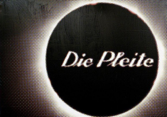 Katharina Sieverding, Die Pleite, 2005, Poster, 4 parts, in signed box, total dimensions: 246 x 374 cm (dimension per segment: 123 x 187 cm), Limited edition of 50, Price: 750 Euro
