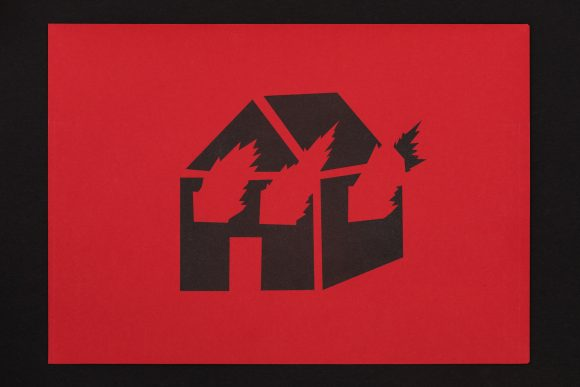 <I>Untitled (Burning House Stencil)</i>, 1981/2019, Courtesy the Estate of David Wojnarowicz and P·P·O·W, New York, photo: Frank Sperling
