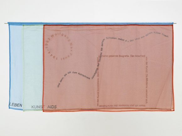 <p><em>Quilt #05 (Wolfgang M. Faust)</em>, silk print on fabric, 2014, Berlin, Courtesy BQ</p>