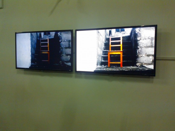 <p><em>Seat/Sit (Coming of the morning series)</em>, Installation view,  Photo credit: Kwaku Boafo Kissiedu</p>