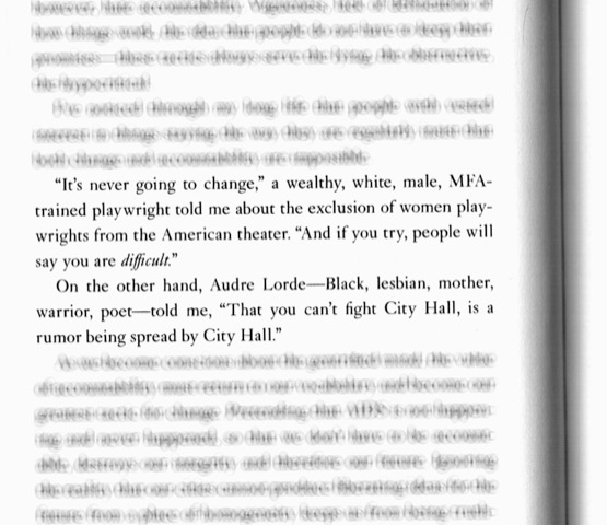 <p>From: Sarah Schulman, <em>The Gentrification of the Mind: Witness to a Lost Imagination</em>, 2012, p. 52.</p>