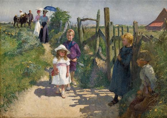 <p>Image: Evariste Carpentier, Promenade d'une famille dans les environs de Paris, ca. 1893, Photo: Frédéric Jaulmes</p>