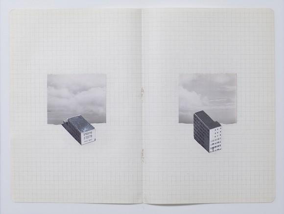 AERIAL STUDIES 2/8, 2013, Xyloltransfer und Tinte auf unbelichtetem Polaroid, 8.89 x 16.51 cm, Courtesy Sheikha Hoor Al-Qasimi und die Künstlerin