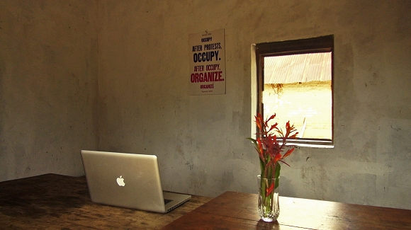IHA's new gallery space, undisclosed location, Democratic Republic of Congo, 2015, photo: Institute for Human Activities