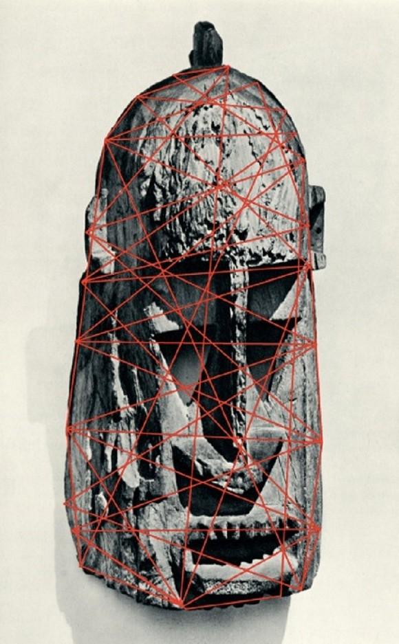 Fragmental #2, 2013, Drawing on printed Image  © Kader Attia, 2013