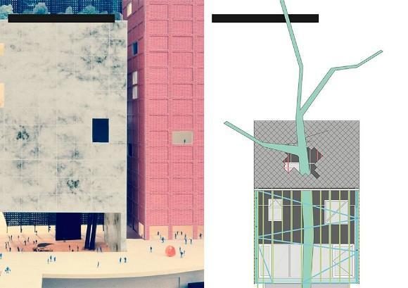 Left: Office kgdvs/51N4E: New National Centre of Contemporary Art, Moscow, 2013, right: architecten de vylder vinck taillieu, House Berlin Heim Beuk AT GB, 2010