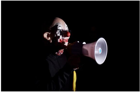 Wolfgang Betke, Performance Archimedes, Photo: Thomas Dashuber
