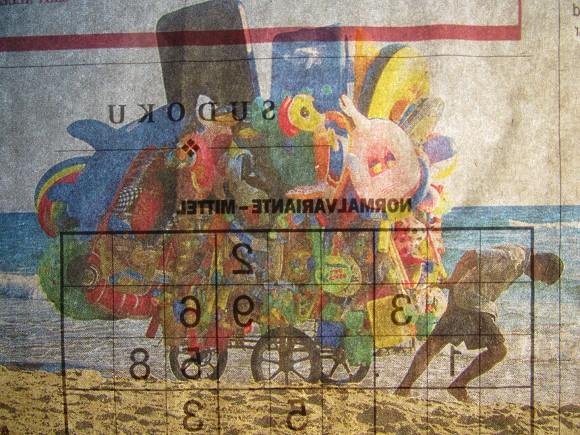 Superfiliale: Normalvariante, 2015, Papier, 10 x 9 cm, Bild: M.Z., 2015