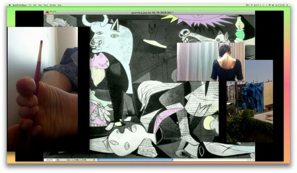 Florian Meisenberg, Guernica Mon Amour, Give All and Get Something (Postmodern Trauma), 2012, Ein-Kanal Video, 8:22 min.<br>