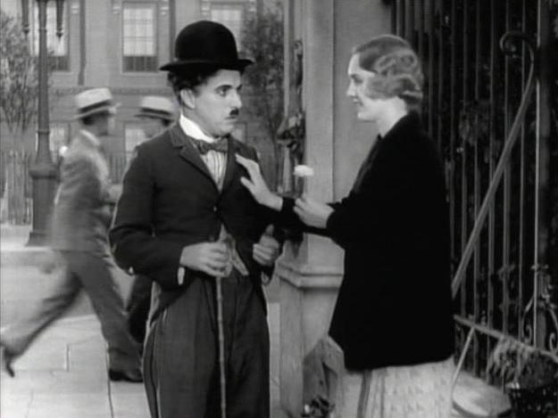 Charlie Chaplin in City Lights. Screen capture from SBS Broadcastings Australia  Edit