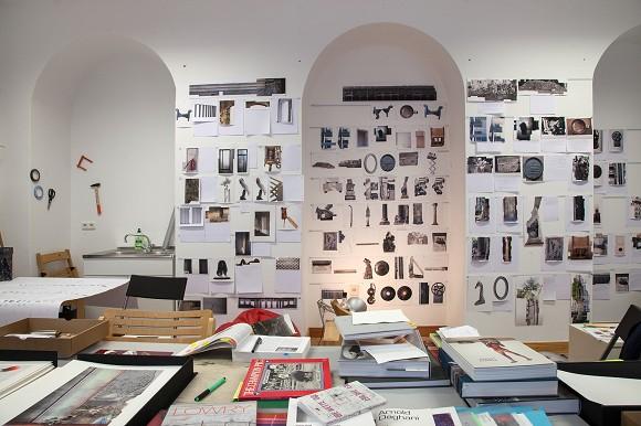 Ilit Azoulay, studio view (2014), courtesy the artist