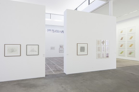 Channa Horwitz: COUNTING IN EIGHT, MOVING BY COLOR, installation view,<br>photo Timo Ohler