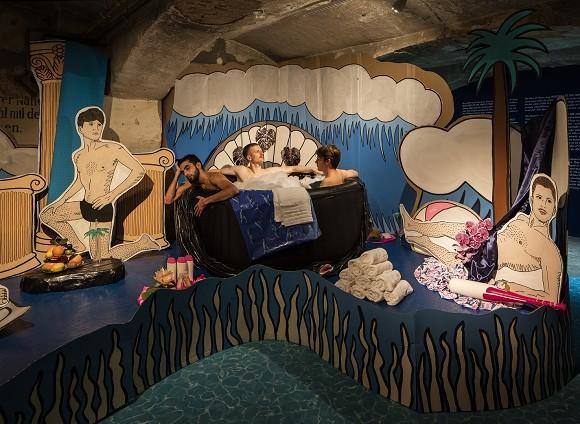 Marianne Vlaschits, MALIBU MOONRISE, 2012/2015,verschiedene Materialien, Maße variabel, Courtesy Marianne Vlaschits, Installationsansicht, Detail, Foto: Timo Ohler